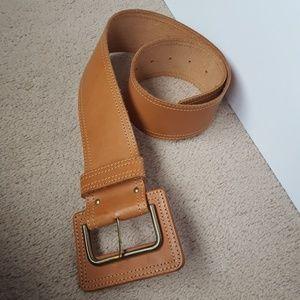 T Edwards wide leather belt Sm/med